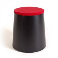 BOBINO mesa tapa de madera con ruedas